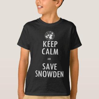 För Snowden för behållalugnspara skjorta mörk T-shirt