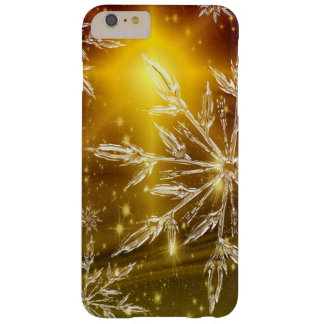 För SnowflakeiPhone för beställnings- jul guld- Barely There iPhone 6 Plus Fodral