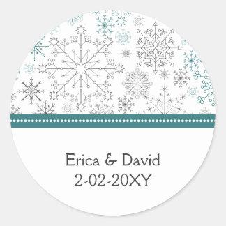 för snowflakevinter för aqua gråa klistermärkear f