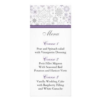 för snowflakevinter för lilor gråa kort för meny