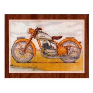 För Socovel för vintage guld- tryck motorcykel Vykort