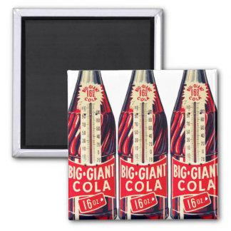 För sodavattenflaska för vintage Retro stor jätte- Kylskåps Magneter