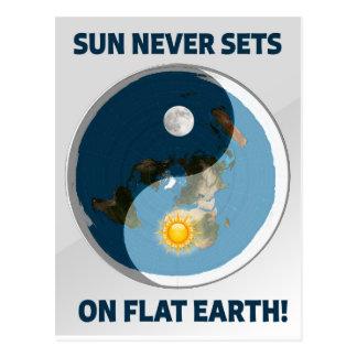 För sol uppsättningar aldrig på lägenhetjord! vykort