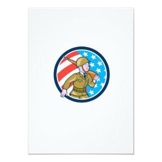 För soldatamerikan för världskrig två Ci för 11,4 X 15,9 Cm Inbjudningskort