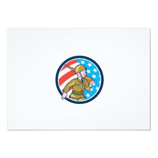 För soldatamerikan för världskrig två Ci för 12,7 X 17,8 Cm Inbjudningskort