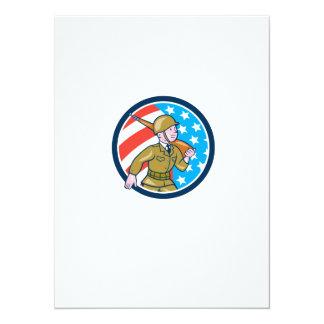 För soldatamerikan för världskrig två Ci för 14 X 19,5 Cm Inbjudningskort