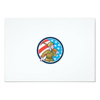 För soldatamerikan för världskrig två Ci för 8,9 X 12,7 Cm Inbjudningskort