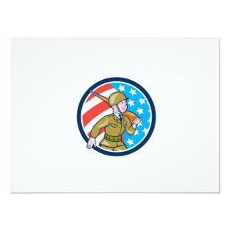 För soldatamerikan för världskrig två Ci för 16,5 X 22,2 Cm Inbjudningskort