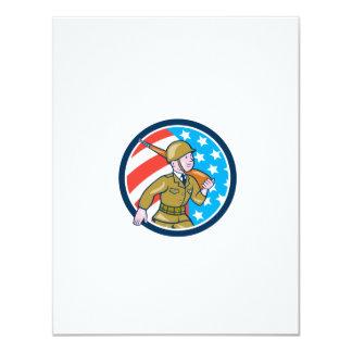 För soldatamerikan för världskrig två Ci för 10,8 X 14 Cm Inbjudningskort
