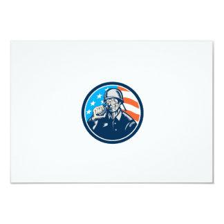 För soldatamerikanen för världskrig två granaten 8,9 x 12,7 cm inbjudningskort