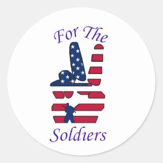 För soldaterna runt klistermärke