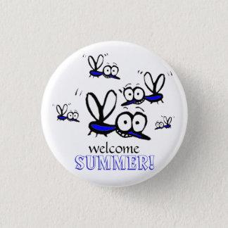 för sommartecknad för humor roliga välkommna mini knapp rund 3.2 cm