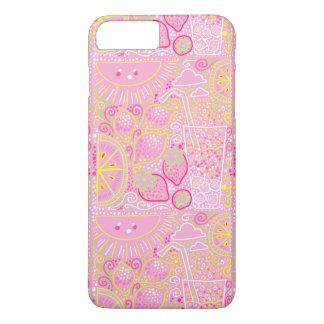 för sommartelefon för rosa lemonade sött fodral