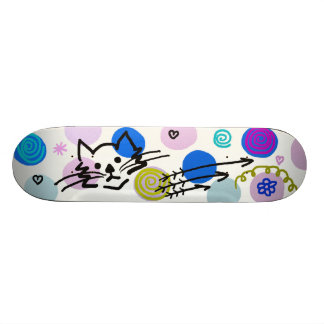 För söt dekoration flickaktigt skateboard bräda 21,5 cm