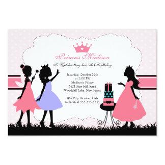 För söt Princess födelsedagsfest inbjudan lite