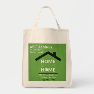 För sötsakhem för grönt hem- toto för livsmedel tygkasse