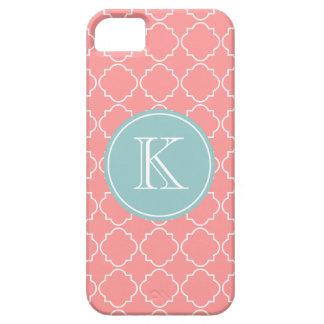 För spaljégaller för korall täcker rosa iPhone 5 iPhone 5 Fodraler
