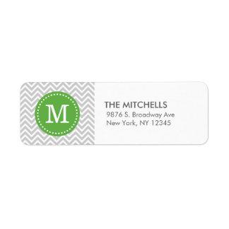 För sparreanpassningsbar för grått och för grönt returadress etikett