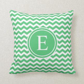 För sparreMonogram för smaragd gröna dekorativ Kudde