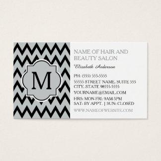 För sparresicksack för trendig svart Hairstylist Visitkort