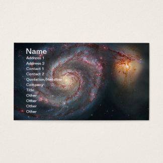 För spiralgalax för bubbelpool M51 NASA Visitkort