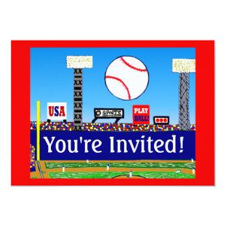För sportbaseball för 2013 ungar födelsedagsfest individuella inbjudningskort