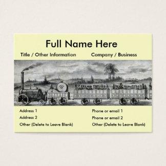 För stångtåg för vintage 1831 bokmärke visitkort