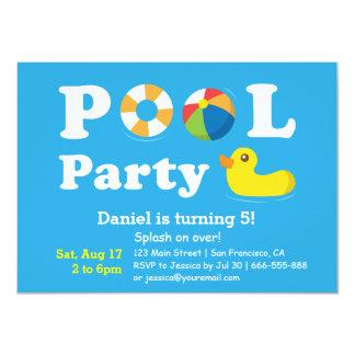 För stänkfödelsedag för ungar färgglatt party för 11,4 x 15,9 cm inbjudningskort