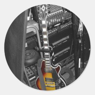 för stativ gitarr ut runt klistermärke