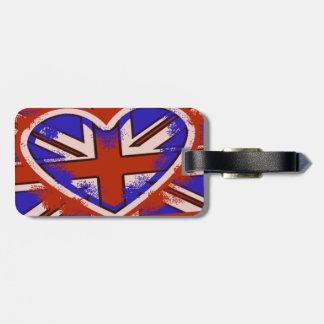 För stilbagage för Punky brittisk märkre Luggage Tags