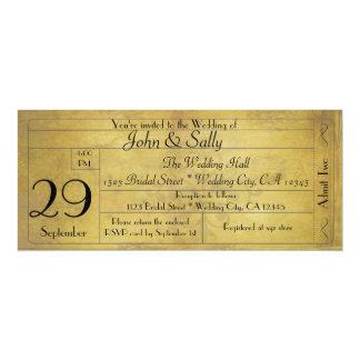 För stilbröllop för vintage gammal inbjudan för