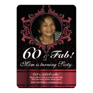 För stilfödelsedag för personlig elegant damastast 12,7 x 17,8 cm inbjudningskort