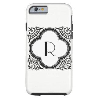 För stilgräns för beställnings- färg Noir Monogram Tough iPhone 6 Skal