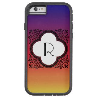 För stilgräns för lutning Noir Monogram Tough Xtreme iPhone 6 Skal