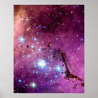 För stjärnabildande för LHA 120-N11 för Hubble Poster