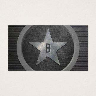 För stjärnacoola för Monogram metallisk militär Visitkort