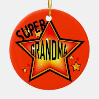 För stjärnafarmor för mormor toppen prydnad för julgransprydnad keramik