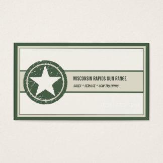 För stjärnaGrunge för militär stil patriotisk Visitkort