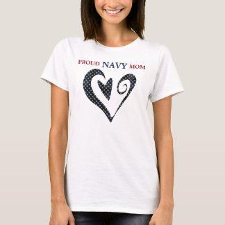 För stjärnamarin för hjärta guld- mamma t-shirt