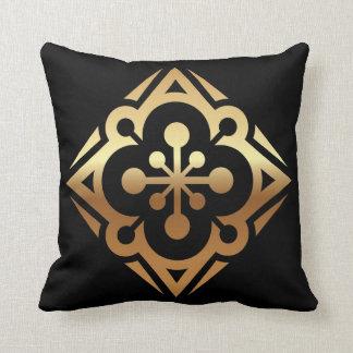 För stjärnapolyester för diamant guld- dekorativ kudde