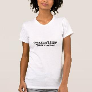 För stor bröstkorg - damavslappnaden kammar hem t shirts
