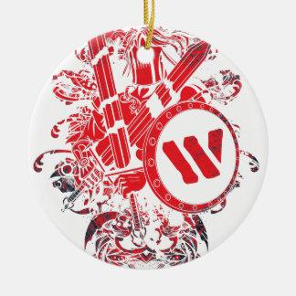 För stridkrigare för dräkt Mega kämpe Julgransprydnad Keramik