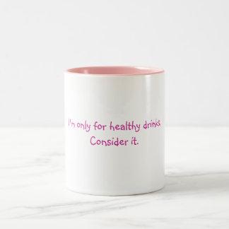 För sunda drinkar Två-Tonad mugg