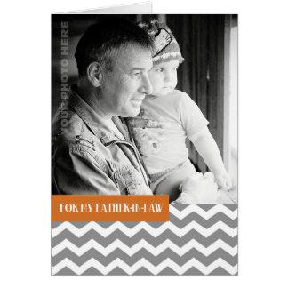 För svärfar på fars dagfotokort hälsningskort