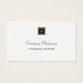 För svart guld- finansiell rådgivare visitkort