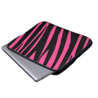 För svart rolig stilfull laptop sleeve sebrarand f datorskydd