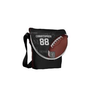 För svart tavlaamerikan för personlig fotboll kurir väska