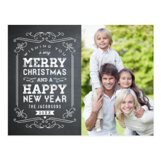 För svart tavlahelgdag för vintage vykort för kort