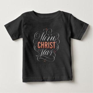 För svart tavlastort festtält för god jul tee shirt