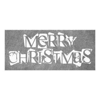 För svart tavlatypografi för god jul vit för svart reklamkort